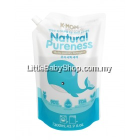 K-Mom Natural Pureness Baby Laundry Detergent 1300ml (Refill Pack)