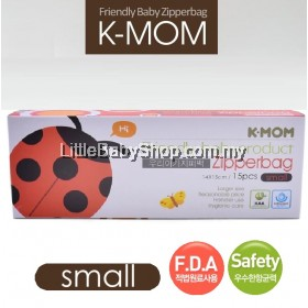 K-Mom Friendly babyproduct Zipper Bag 15pcs (Small)