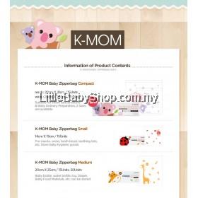 K-Mom Friendly babyproduct Zipper Bag 2 in-1 Compact (30pcs)