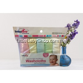 BABYLOVE Baby Washcloths (Pack of 10) - Assorted Color