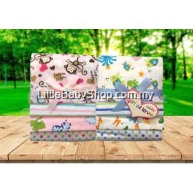 BABYLOVE Receiving 4's Flannel Blanket 4 in 1 (0540) Assorted Designs