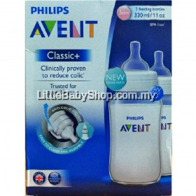 PHILIPS AVENT Classic+ Bottle 330ml/11oz - Twin Pack
