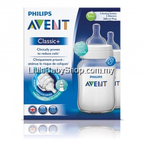 PHILIPS AVENT Classic+ Bottle 260ml/9oz - Twin Pack