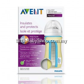 Philips Avent Glass Bottle Sleeve - Yellow Lining