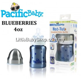 Pacific Baby Thermal Baby Bottle 120ml ( Blueberries )