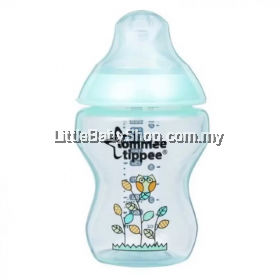 Tommee Tippee Closer To Nature Decorated Feeding Bottle BPA Free – 260ml/9oz (Green Plant)