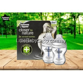 TOMMEE TIPPEE Closer To Nature 2x Vented Bottles 260ml (0m+)