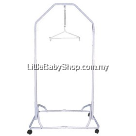 Kangeroo Premium Baby Safety Spring Cradle Cot Stand (White Epoxy)