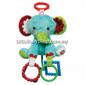 Fisher Price Hanging Plush Elephant 6 Inches